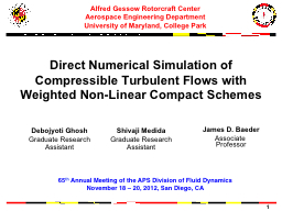 Direct Numerical Simulation of Compressible Turbulent Flows with Weighted Non-Linear Compact Scheme