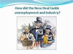 How did the New Deal tackle unemployment and industry?