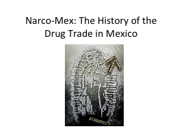 Narco-Mex : The History of the Drug Trade in Mexico