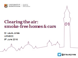 Clearing  the air:  smoke-free homes & cars