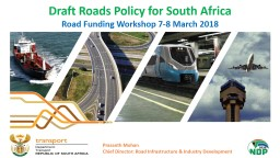 Draft Roads Policy for South Africa