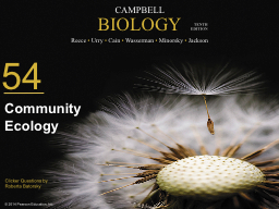 0 Community Ecology Two-species interactions are classified by the impact each species has on the o