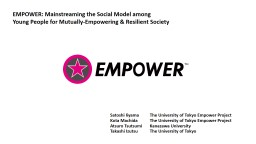 EMPOWER: Mainstreaming the Social Model among