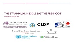 The 8 th  Annual Middle east Vis Pre-Moot
