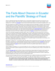 March  The Facts About Chevron in Ecuador and the Plai