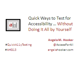 Quick Ways to Test for Accessibility …