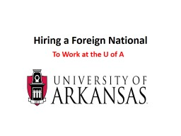 Hiring a Foreign National