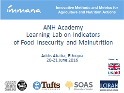 ANH Academy  Learning Lab on Indicators