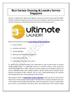 Best Curtain Cleaning & Laundry Service Singapore