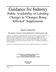 JGuidancdft  Guidance for Industry Public Availability