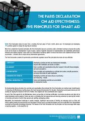 The paris declaration on aid effectiveness five principles for smart aid