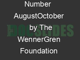 Current Anthropology Volume   Number  AugustOctober   by The WennerGren Foundation for Anthropological Research