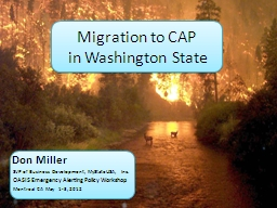 Migration to CAP  in Washington State