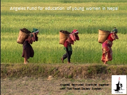 Angeles Fund for education of young women in Nepal