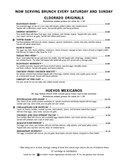 surcharge on substitutions NOW SERVING BRUNCH EVERY S