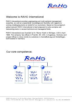 RAHO International � Inh. Dr.-Ing. Rainer Hoefs � Sterzinger Stra