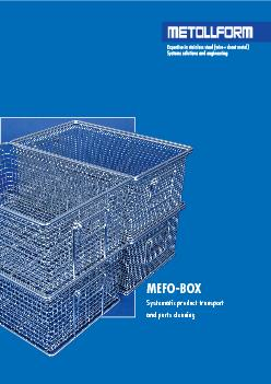 MEFO-BOX Systematic product transport