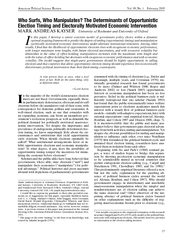 American Political Science Review Vol