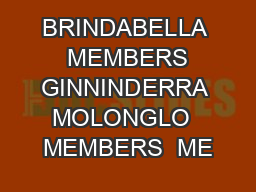 BRINDABELLA  MEMBERS GINNINDERRA MOLONGLO  MEMBERS  ME PowerPoint PPT Presentation