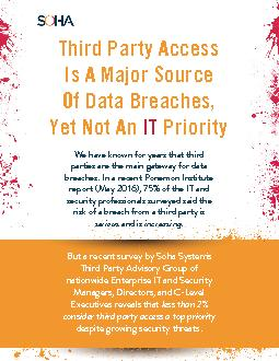 But a recent survey by Soha System's Third Party Advisory Group of nat