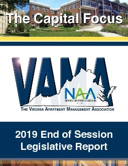 OVERVIEW  VAMA is pleased to present the Report on the 2019 session of