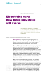 Electrifying cars How three industries will evolve Upo