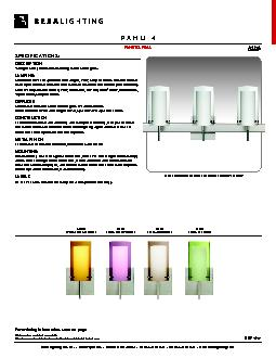 SPECIFICATIONS:2-4 light vanity luminaires featuring handcrafted glass