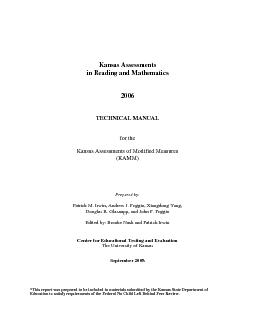 2006 Kansas Technical Manual       Purpose of the Technical Report....