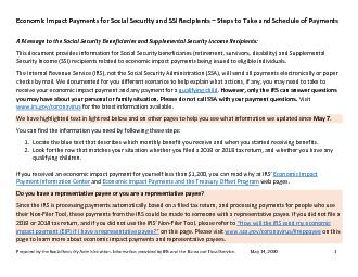 Economic Impact Payments for Social Security and SSI Recipients –