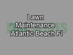 Lawn Maintenance Atlantic Beach Fl