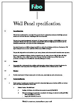 Wall Panel specicationFibo | A smart way to tranform your wall ..