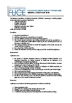 Letter of acceptation of the host University.  Selection process  1. T