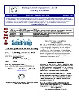 These are just a few of the events sponsored by our DACU congregations