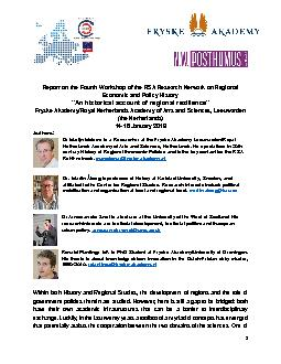 Report on the FourthWorkshop of the RSA Research Network on Regional E