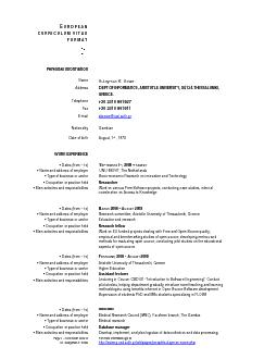 Page  - Curriculum vitae of Dr. Sulayman K. Sowe  For more information