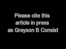Please cite this article in press as Greyson B Consist