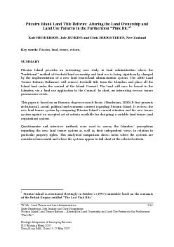 TS 3A - Land Tenure and Land Administration