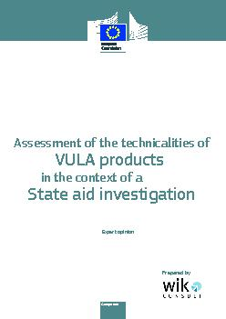 Assessment of the technicalities ofState aid investigationExpert opini