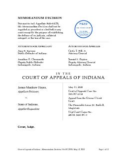 Court of Appeals of IndianaMemorandumDecisionPCMay 13,