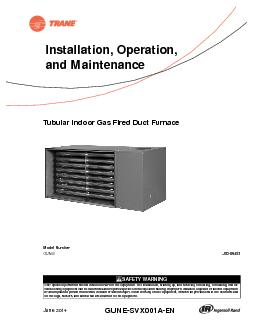 Tubular Indoor Gas Fired Duct Furnace