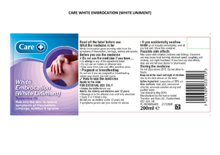 CARE WHITE EMBROCAT ION WHITE LINIMENT
