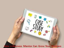 How a Business Mentor Can Grow Your Business