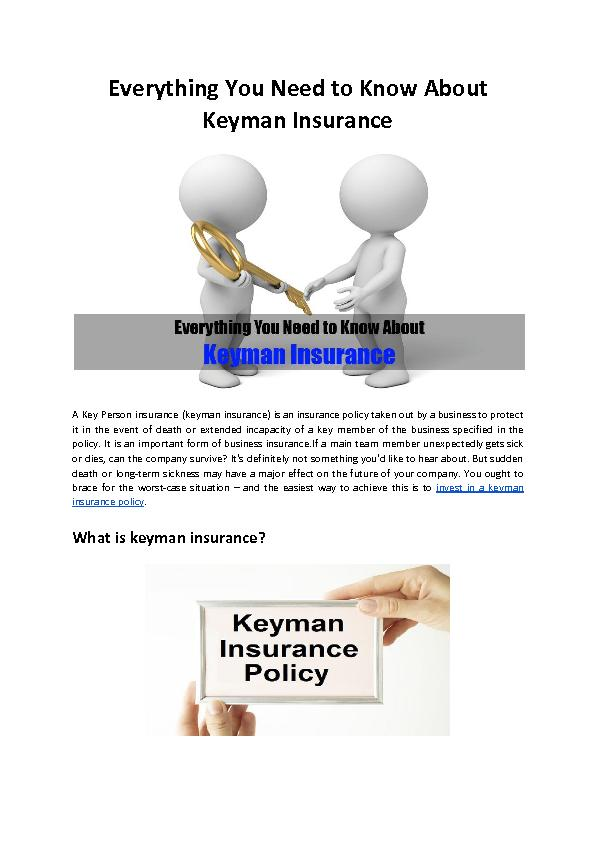 Everything You Need to Know About Keyman Insurance - Mountview Financial Solutions