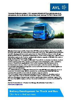 Customer Reference project: AVL supports Mitsubishi-Fuso with the elec