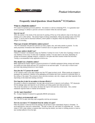 Product Information Frequently Asked Questions About D