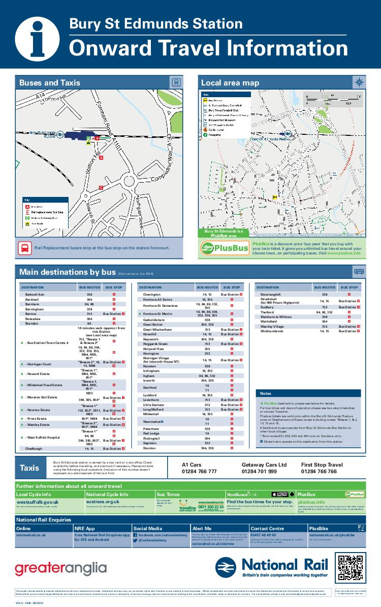 Local area map Main destinations by bus Data correct at September  Buses and Taxis DESTINATION BUS ROUTES BUS STOP Text the relevant code for your bus stop to  and receive a text back with the time of