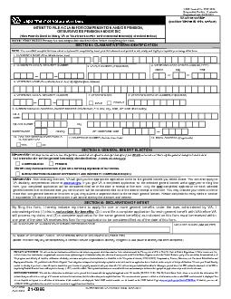 IMPORTANT: VA may not be able to use this form to establish an effecti