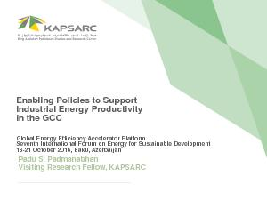 Enabling Policies to Support Industrial Energy Productivity in the GCC