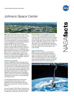 NASA's Johnson Space Center has been a leader in human space expl