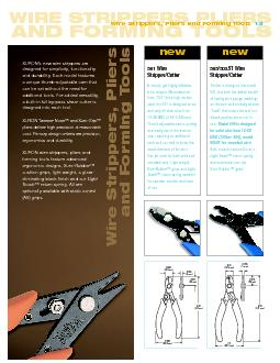 WIRE STRIPPERS PLIERS ANDFORMING TOOLS